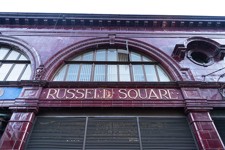 Russell Square tube station facade