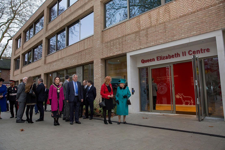 Her Majesty The Queen opening the Queen Elizabeth II Centre